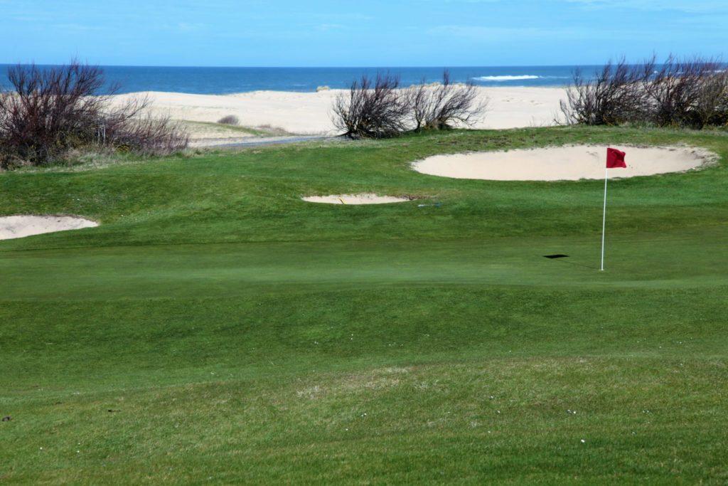 Golfer entre forêt et océan