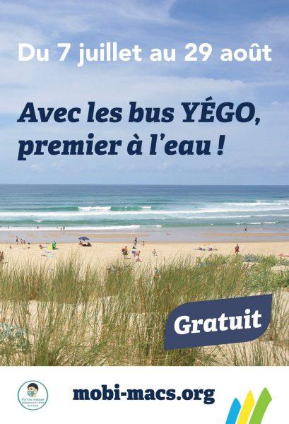 YÉGO plages : du nouveau cet été !