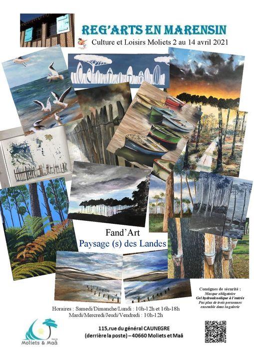 Expo Galerie Reg Arts en Marensin-Moliets-Landes Atlantique Sud